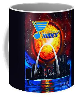 The Stl Blues Coffee Mug by Justin Moore