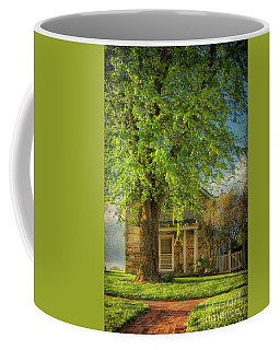 Coffee Mug featuring the photograph The Stone Cottage On A Spring Evening by Lois Bryan