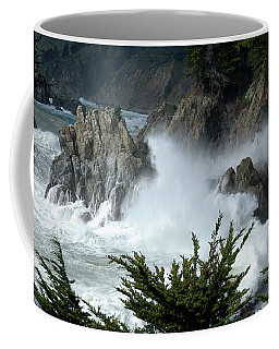 Coffee Mug featuring the photograph The Storm At Big Sur by Jeff Burgess