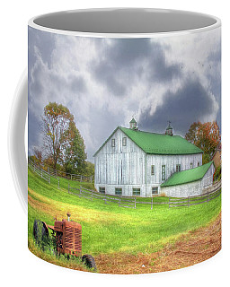 Coffee Mug featuring the digital art The Storms Coming by Sharon Batdorf