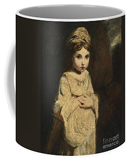 Coffee Mug featuring the painting The Strawberry Girl by Studio of Sir Joshua Reynolds