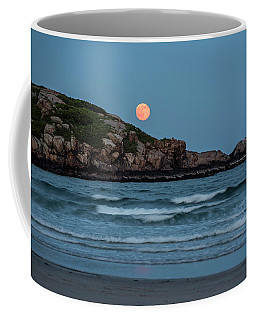 The Strawberry Moon Rising Over Good Harbor Beach Gloucester Ma Island Coffee Mug