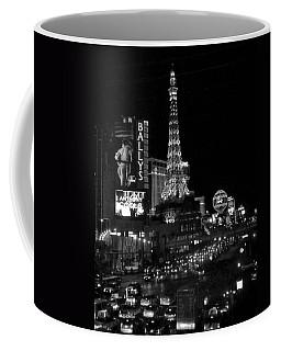 The Strip By Night B-w Coffee Mug