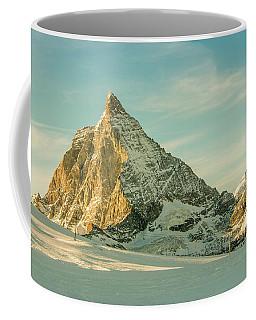 The Sun Sets Over The Matterhorn Coffee Mug