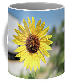 The Sunflower And The Bee Coffee Mug