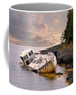Coffee Mug featuring the photograph Shipwrecked by Elaine Manley