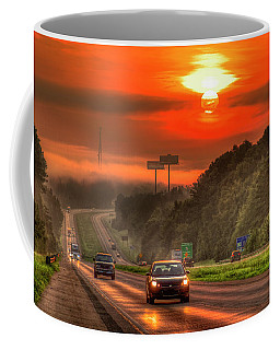 The Sunrise Commute Georgia Interstate 20 Art Coffee Mug