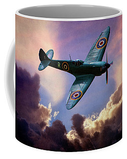 Coffee Mug featuring the photograph The Supermarine Spitfire by Chris Lord