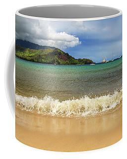 The Surf At Hanalei Bay Coffee Mug