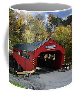 The Taftsville Covered Bridge Coffee Mug by Mike Martin