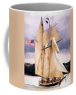 The Tall Ship The Lynx, Fine Art Print Coffee Mug by Greg Sigrist