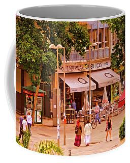 The Tavern On The Plaza - Spain Coffee Mug by Mary Machare