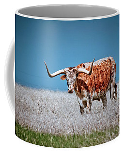 Coffee Mug featuring the photograph The Texas Longhorn by Linda Unger