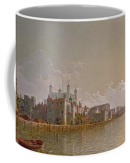 The Thames By Moonlight With Traitors' Gate And The Tower Of London Coffee Mug