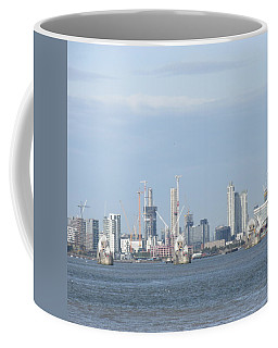 Coffee Mug featuring the photograph The Thames Flood Barriers - East London by Mudiama Kammoh
