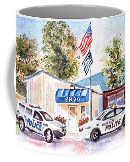 Coffee Mug featuring the painting The Thin Blue Line by Kip DeVore