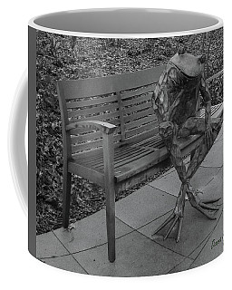 The Thinking Frog Coffee Mug by Donna Brown