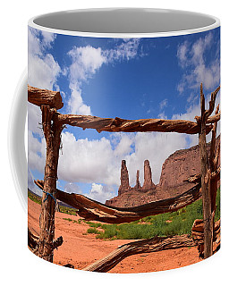 Coffee Mug featuring the photograph The Three Sisters Framed - Arizona by Dany Lison