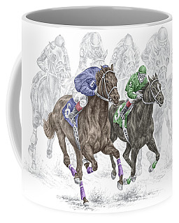 The Thunder Of Hooves - Horse Racing Print Color Coffee Mug