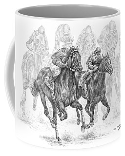 The Thunder Of Hooves - Horse Racing Print Coffee Mug