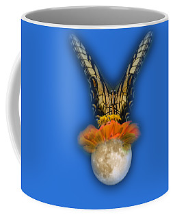 Coffee Mug featuring the photograph The Tiger Has Landed Tee-shirt by Donna Brown