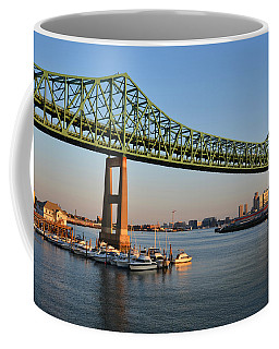 The Tobin Bridge Into The Sunset Chelsea Yacht Club Coffee Mug