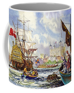 The Tower Of London In The Late 17th Century  Coffee Mug