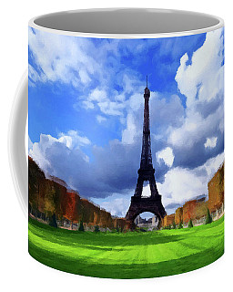 Coffee Mug featuring the painting The Tower Paris by David Dehner