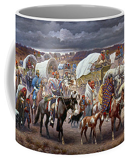 Coffee Mug featuring the painting The Trail Of Tears by Granger