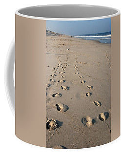 The Trails Of Footprints - Jersey Shore Coffee Mug