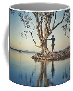 Coffee Mug featuring the photograph The Tree And Me by Keiran Lusk