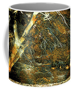 Coffee Mug featuring the photograph The Tree And The Rust by Lilia D