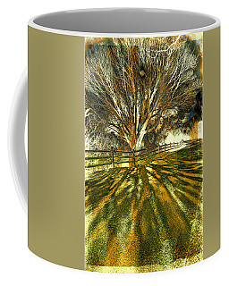 Coffee Mug featuring the photograph The Tree And The Shadow by Lilia D