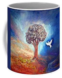 Coffee Mug featuring the painting The Tree by Winsome Gunning