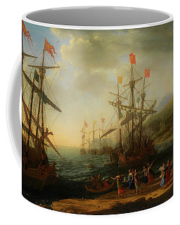 Coffee Mug featuring the painting The Trojan Women Setting Fire To The Fleet by Claude Lorrain