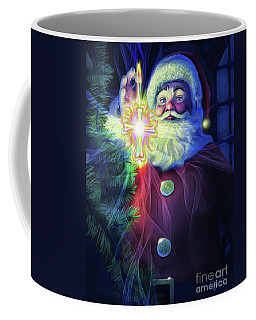 Coffee Mug featuring the painting The True Spirit Of Christmas - Bright by Dave Luebbert