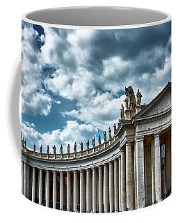 Coffee Mug featuring the photograph The Tuscan Colonnades In The City Of Rome by Eduardo Jose Accorinti