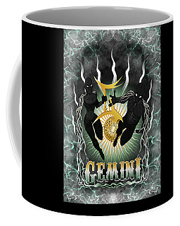 Coffee Mug featuring the drawing The Twins - Gemini Spirits by Raphael Lopez