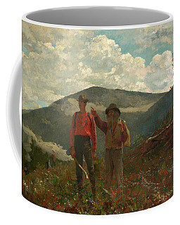 Coffee Mug featuring the painting The Two Guides by Winslow Homer