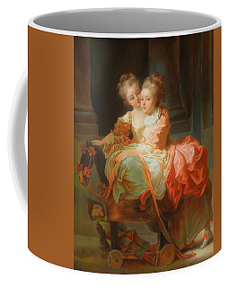 Coffee Mug featuring the painting The Two Sisters                                   by Jean Claude Richard