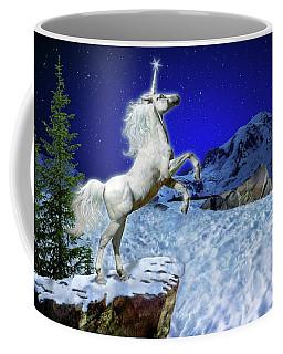 Coffee Mug featuring the digital art The Ultimate Return Of Unicorn  by William Lee