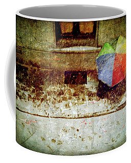 Coffee Mug featuring the photograph The Umbrella by Silvia Ganora