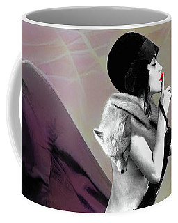 Coffee Mug featuring the mixed media The Unkeepable Secret by Susan Maxwell Schmidt