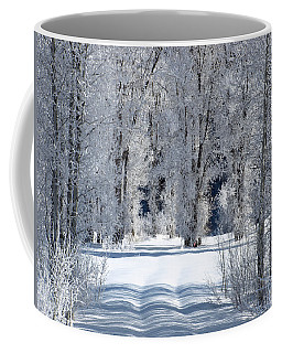 The Untraveled Winter Road Coffee Mug