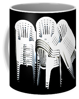 Coffee Mug featuring the digital art The Unused Chairs by Steve Taylor