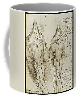 Coffee Mug featuring the painting The Upper Arm Muscles by James Christopher Hill