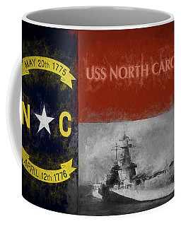Coffee Mug featuring the photograph The Uss North Carolina by JC Findley