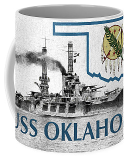 Coffee Mug featuring the digital art The Uss Oklahoma by JC Findley