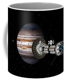 The Uss Savannah Nearing Jupiter Coffee Mug