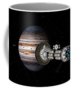 The Uss Savannah Nearing Jupiter Coffee Mug